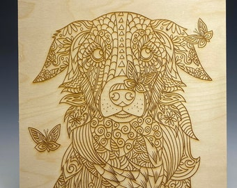Amazing for Grief Therapy Quarantine Boredom! DIY Engraved Zentangle Angel Kitty Art Therapy NEW Color in and it/'s ready to hang