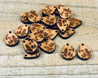 Detailed Mandala Pendant GT-01-0170 Keychain Charms Keychain Supplies Jewelry Blank Necklace Charms Large Charms Wooden Charms
