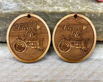 Tractor Wooden Storage Boxes With FREE Engraved Plaque Farming Gift 375