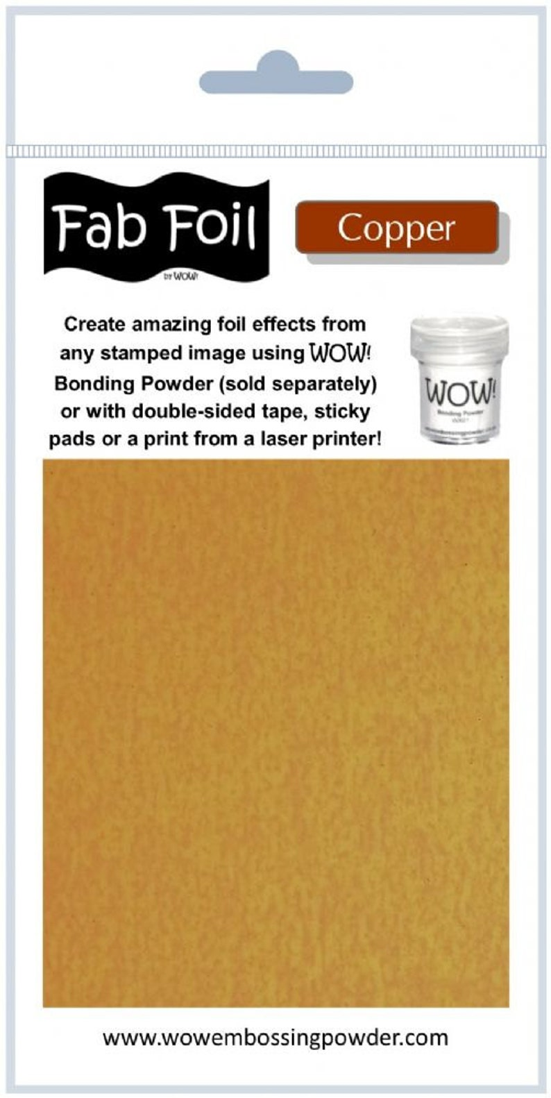 Wow Fab Foil Copper Embossing Foil, Jewelry making, Paper crafting