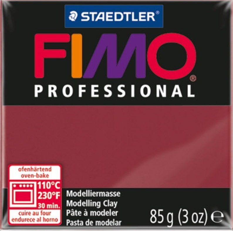 jeweler supplies jewelry making bead making Fimo Professional Polymer Clay in Bordeaux clay polymer clay