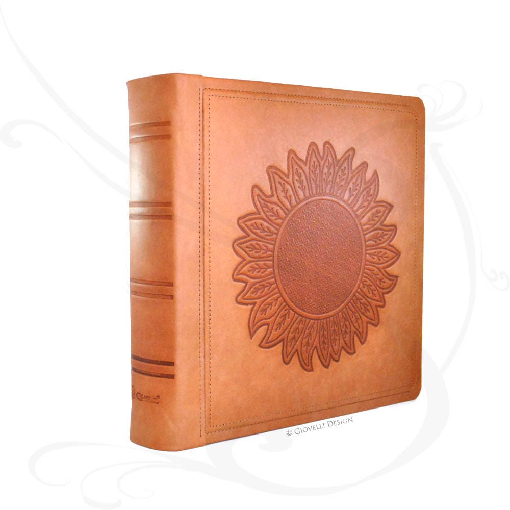 Sunflower Leather Photo Album Scrapbook
