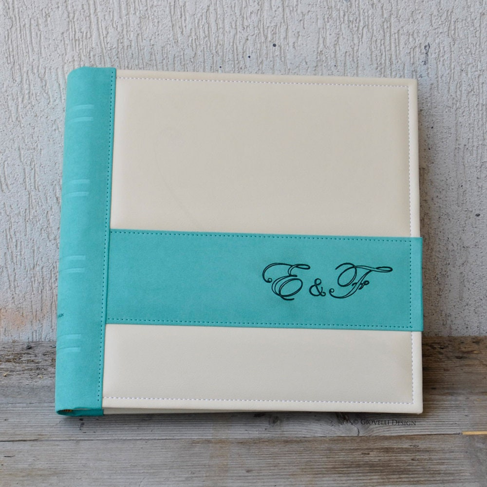 Personalized Engagement Scrapbook Album Custom Engagement Party Gift