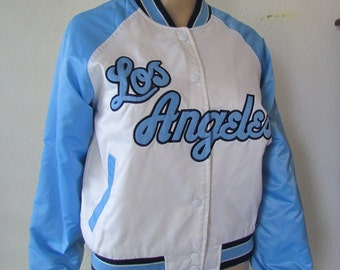 4c1945647 Vintage NBA Los Angeles Lakers Satin Bomber Jacket Quilted