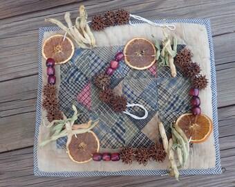 Primitive Natural Dried Garland - Orange Slices