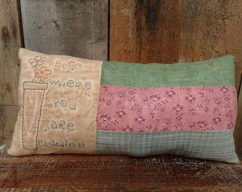 Embroidered Bloom Pillow