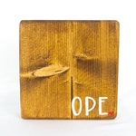 Ope Sign, Midwest Slang, Wild Goat Design