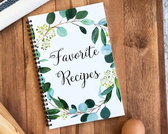 recipe journal blank recipe book to record homemade recipes with cute cat design