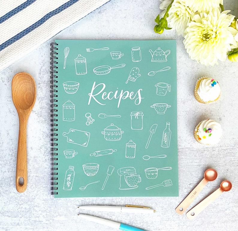 Blank Recipe Notebook Large 8.5x11 Recipe book Kitchen image 0