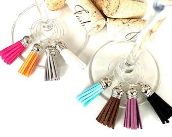 Tassel Wine Charms | Wine Glass Charms | Boho Wine Charms | Wine Charm Set | Hostess Gift | Wine Gifts | Drink Markers | Set of 8