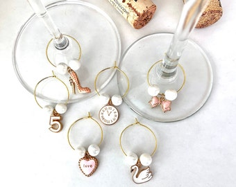 Stiletto Wine Charms | Wine Glass Charms | Bridesmaid Gifts | Gift for Her | Bachelorette Gifts | Set of 6