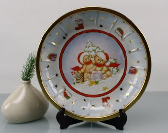 Vintage. West Germany Serving plate cake plate biscuits plate serving bowl plate cookie plate HP tin bowl Germany