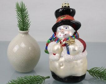 Vintage. Glass Snowman Christmas Tree Decoration Christmas Balls Handmade Christmas Decoration Fir Tree Ornaments