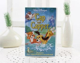Vintage. Walt Disney Cap and Capper Videocassette for Video Recorder Language: German