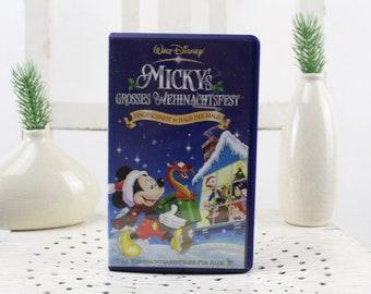 Vintage. Walt Disney Mickey's Big Christmas Party Video cassette for video recorder Language: German