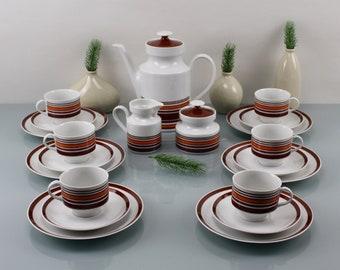 Vintage. Wundsiedel R Bavaria Germany Retsch & Co. Porcelain Factory in Wunsiedel in Germany Vintage Shop Coffee Tableware 21 Piece Set