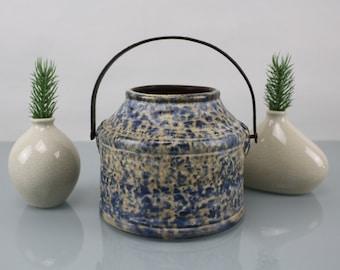 Vintage. JASBA ceramic jug with handle Jasba 5050 14 handmade 70s ceramic mid century fat lava blue white