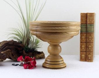 Mid Century Teak Holz Schüssel Tischdekoration 60er Jahre Sehr Kostbares  Stück Handarbeit Salatschüssel 25,5 Cm Ø