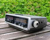 Vintage clock alarm clock radio West German Siemens Alpha Retro alarm clock 60s Mid Century VERY RARE