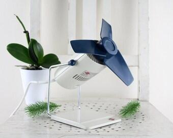 Vintage Progress Ventilator 1950 / 1960er Jahre sehr seltenes Model Schreibtisch Ventilator
