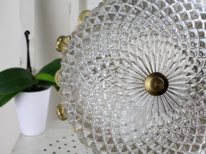 Plafoniere Kristall : Vintage. 40er jahre plafoniere antik deckenlampe kristall etsy
