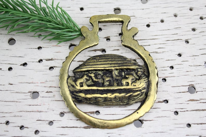 Vintage Bottle opener from England Brass beautiful handcrafted from high quality material Mid Century Noah/'s Ark