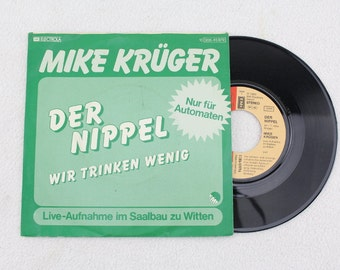 Vintage. Record MIKE KRÜGER - The Nipple - We Drink Little - Only for Vending Machines!