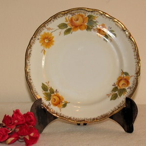 Vintage porcelain bowl with rose table decoration Hand made and painted by Janusz Baranowski Made in Poland