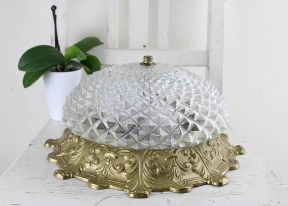 Plafoniere In Cristallo A Soffitto : Vintage s plafoniere antica cristallo lampada soffitto etsy