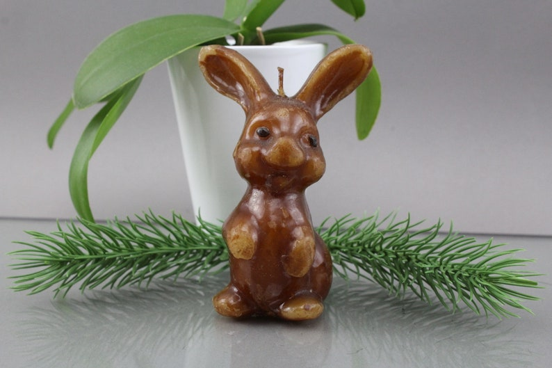 Sweet bunny candle Easter decoration Candlelight Vintage from image 0