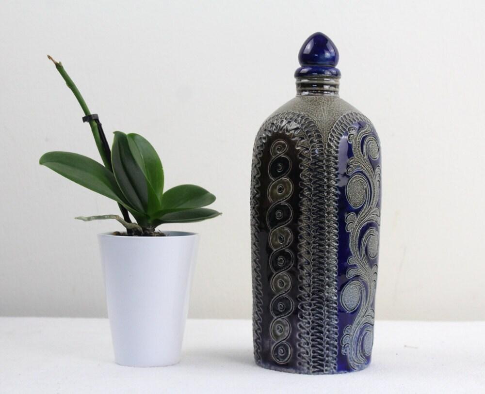 Vintage keramik flasche salzglasur aus den 70er jahren for Mobel aus den 70er jahren