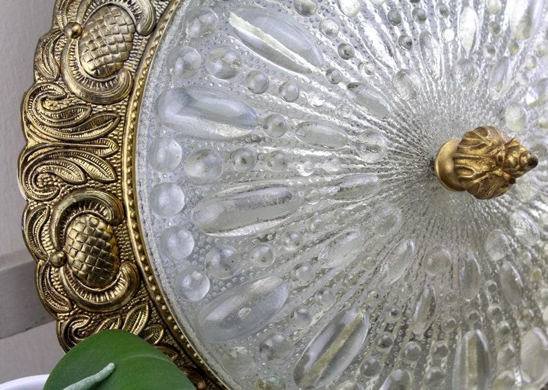 Plafoniere Kristall Antik : Vintage plafoniere antik deckenlampe kristall lampe etsy