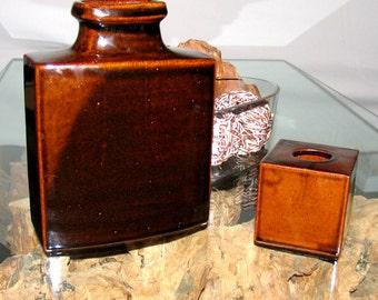 Vintage Large Vase Knabstrup Denmark 60s Collectible