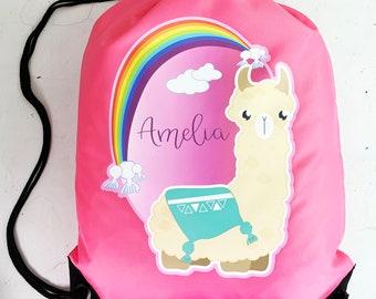 Llama Drawstring PE Everyday Bag Gym Swimming