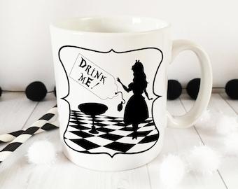Alice in Wonderland Drink Me Mug - Alice in wonderland gifts - Alice mug - gifts for her - alice gifts