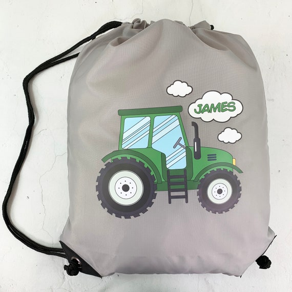GREAT NAMED GIFT PE DANCE// SWIMMING BAG GREEN TRACTOR PERSONALISED GYM