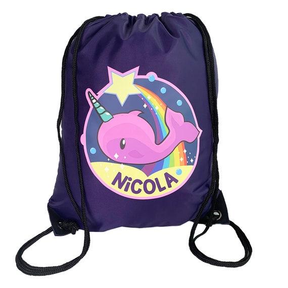 SWIMMING BAG GREAT KIDS GIFT /& NAMED TOO PERSONALISED SPACE ROCKET GYM PE