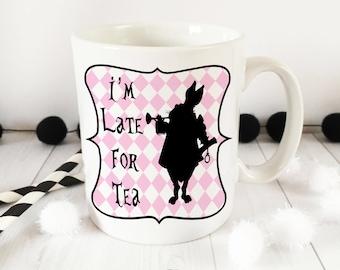 Alice in WonderLand 10oz White Rabbit ceramic Mug