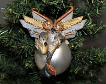 Steampunk Dragon Ornament Polymer Clay