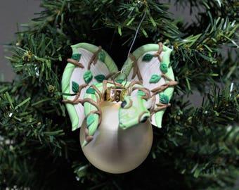 Nature Dragon Christmas Ornament Polymer Clay