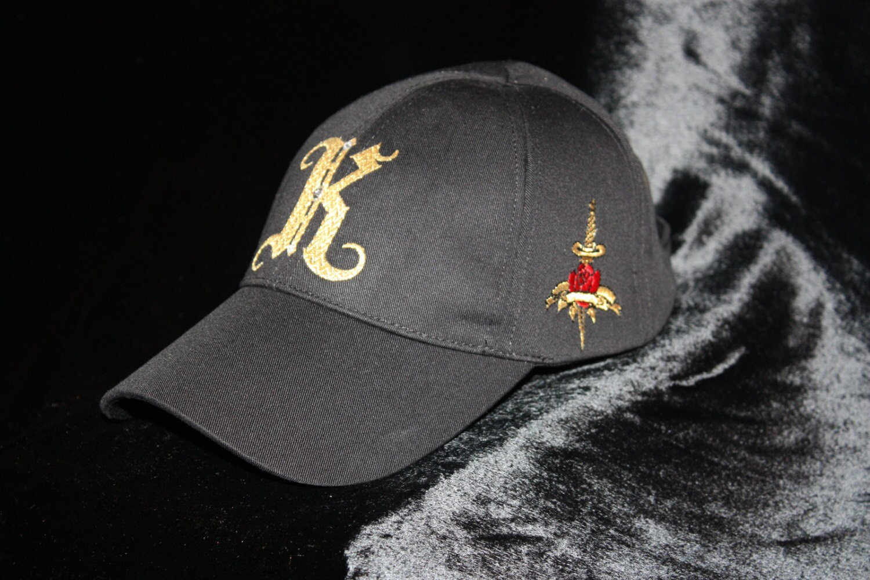 Monogram Hat Cool Baseball Cap Urban Wear Rebel Chic Glam ...  Monogram Hat Co...