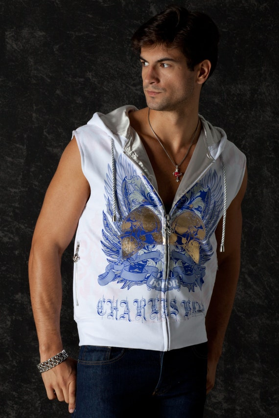 a8ae06f0200bf Free Shipping Sleeveless Men Hoodie Lord of Honor Rebel Chic