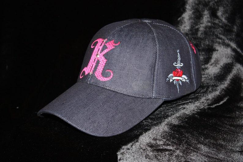 a384d2eb7b7 Unisex Jean Baseball Cap Monogram Hat Embroideries Urban Wear