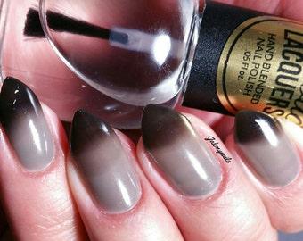TORNADO WARNING Black to Clear Thermal Color Changing Nail Polish