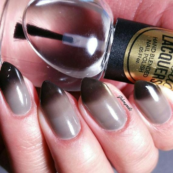TONADO WARNING Black to Clear Thermal Color Changing Nail | Etsy