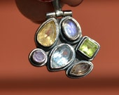 Vintage Jewelry Pendant accessories silver multi stone crystals rings Necklaces jewels gems manifestation manifestation Reiki women's Sale
