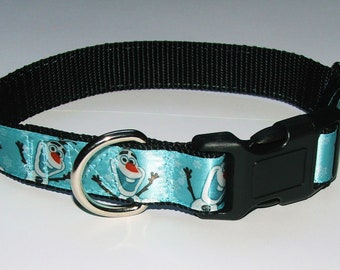"FROZEN Dog Collar OLAF Small (11-16"")"