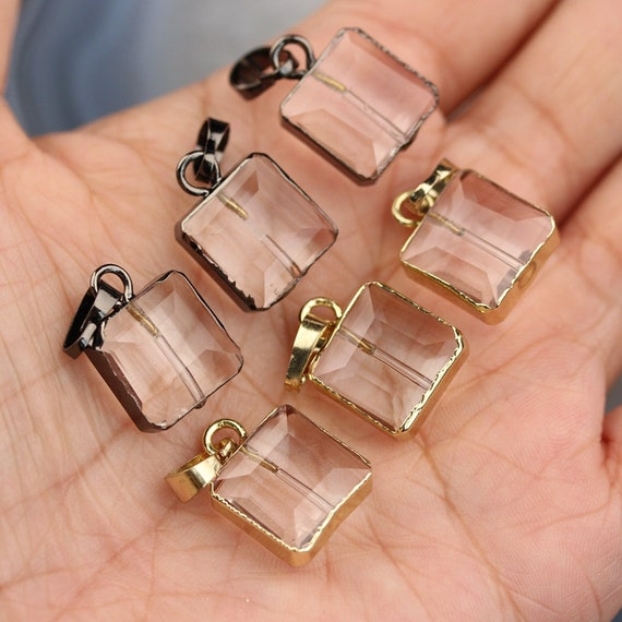 10pcs 35 mm Faceted Teardrop CRYSTAL glass Hanging Drop Loose Beads Pendentifs