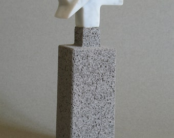 ICEBERG sculpture in white marble and andesite of Volvic