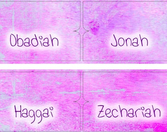 Bible Tabs Bible Journaling Printable Tabs Planner Tabs Purple Watercolors Printable 66 Books Old New Testament Christian Faith 2017BT9